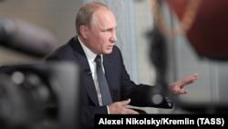 Володимир Путін під час інтерв'ю для Fox News