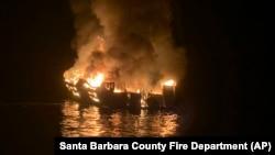 Пожар на судне Conception у берегов острова Санта-Круз 2 сентября