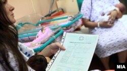 """Fushata """"Welcome baby"""", organizuar nga Ministria e Shëndetësisë."""