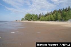 Высохший берег Волги возле Ульяновска