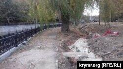 Реконструкція набережної річки Салгир. Сімферополь, листопад 2019 року