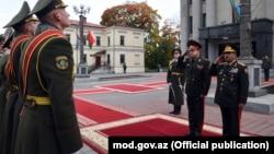 Müdafiə naziri general-polkovnik Zakir Həsənov Belarusda. Minsk. 09okt2017