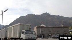 Բեռնատար հայ-իրանական սահմանի Մեղրիի անցակետի մոտ, արխիվ
