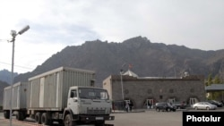 Armenia - The Meghri border crossing with Iran.