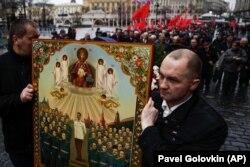 Відзначення дня народження Йосипа Сталіна в центрі Москви, 21 грудня 2015 року