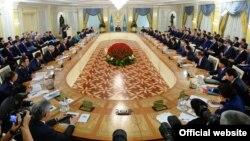 Қазақстан үкіметінің кеңейтілген жиыны. Астана, 6 тамыз 2014 жыл. (Көрнекі сурет)