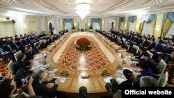Расширенное заседание правительства с участием президента Казахстана Нурсултана Назарбаева. Астана, 6 августа 2014 года.