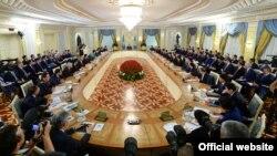 Үкіметтің кеңейтілген жиыны. Астана, 11 ақпан 2015 жыл. (Көрнекі сурет).