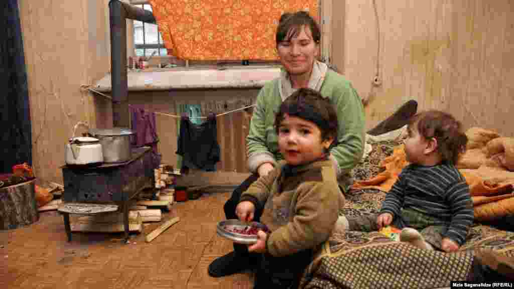 The families living there heat their rooms with small wood-burning stoves.