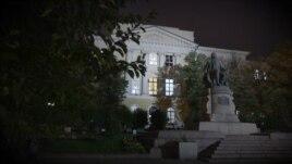 Здание журфака МГУ на ул. Моховой. Я.Засурский:
