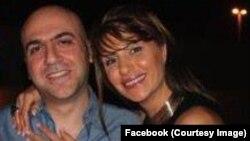 عباس یزدانپناه در کنار همسرش