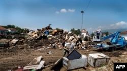 Pasojat e vërshimeve në fshatin Stajkovc