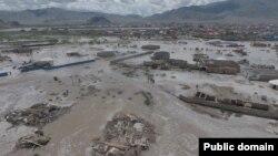 Район монгольского города Баян-Ульгий, где в минувшее воскресенье прошел сель.