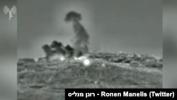 تصویر برگرفته از فیلمی کوتاه است که در توئیتر سخنگوی ارتش اسرائیل منتشر شدهاست