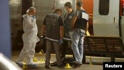 Французька поліція в Аррасі, де затримали нападника, 21 серпня 2015 року