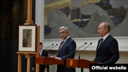 Armenia -- Armenian and Russian Presidents Sargsyan and Putin in in Moscow. 15Nov., 2017