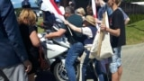 Belarus – The protest near the restaurant in Kurapaty, motorcylsit, June 9, 2018