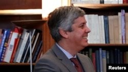 Mario Centeno, președintele Eurogroup, la o ceremonie la ambasada Portugaliei la Paris