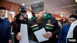 Рамзан Кадыров на выборах в 2016 году