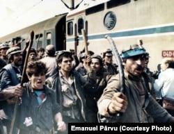 14 iunie 1990, București, Gara de nord (foto: Emanuel Pârvu)