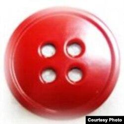 """Красная пуговица, символ кампании """"Остановить насилие над женщинами!"""""""