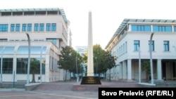 Podgorica bi uskoro mogla dobiti spomenik visok 10 metara, djelo poznatog crnogorsko - hrvatskog slikara i književnika Dimitrija Popovića. Foto: Izgled spomenika, kompjuterska animacija