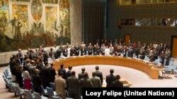 Члени Ради безпеки ООН хвилиною мовчання вшанували загиблих у «Боїнгу-777», Нью-Йорк, 18 липня 2014 року