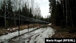 Тот самый забор вдоль границы Латвии и России