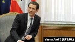 Действующий председатель ОБСЕ, глава МИД Австрии Себастьян Курц (архив)