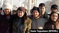 Алматылық студенттер, 11 қараша 2011 жыл.