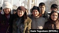 Алматы студенттері. (Көрнекі сурет)