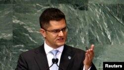 Vuk Jeremić tokom predsedavanja Generalnom skupštinom UN