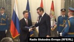 Vučić uručuje orden Mileru, Beograd