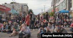 Демонстранти в «Капітолійській автономній зоні»