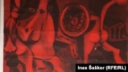 """Detalj plakata za """"Bitku na Neretvi"""" koju je radio Pablo Pikaso"""