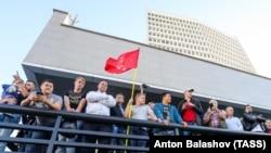 Митинг в поддержку кандидата в губернаторы Приморского края от КПРФ (Архивное фото)