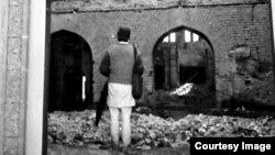 Sinagoga din Cernăuți distrusă în iulie 1941 (detaliu, coll. Willy Pragher, Landesarchiv Baden-Württemberg, Staatsarchive Freiburg)