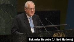 Посол Австрії Мартін Сайдік виступає в ООН, Нью-Йорк, січень 2015 року