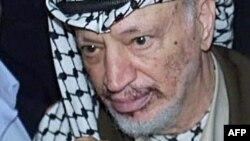 Бывший лидер Палестины Ясер Арафат в 2000 году.