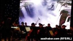 Концерт оркестра Тахира Атаева: «Времена года» Антонио Вивальди в интерпретации Макса Рихтера. Кинотеатр Ватан. Ашхабад, 24 июля 2021 г.