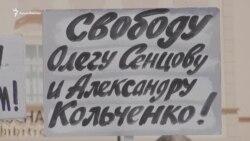 «Спасите Сенцова!»: В Чехии прошла акция в поддержку политузника (видео)