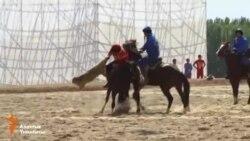 Қырғызстандағы көкпар сайысы