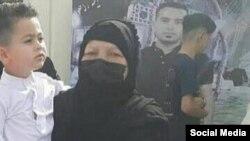 بدریه حمیداوی، مادر على تميمى از كشتهشدگان اعتراضات آبان ۹۸