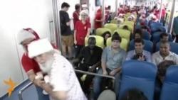 Бразилия Санта клаус мактаби битирувчилари рождествога тайëр