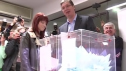 Serbian Prime Minister Vucic And Political Rivals Cast Their Votes