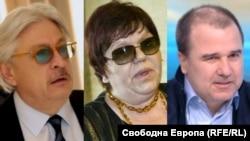 Александър Тумпаров (ляво), Ирена Кръстева и Цветомир Найденов