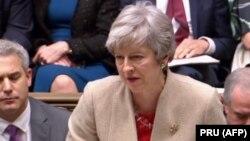 Ұлыбританияның премьер-министрі Тереза Мэй қауымдар палатасында сөйлеп тұр. Лондон, 29 наурыз 2019