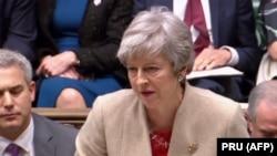 Մեծ Բրիտանիայի վարչապետ Թերեզա Մեյը խորհրդարանում, մարտ, 2019թ․
