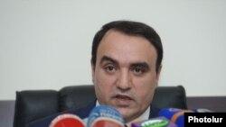 Лидер партии «Оринац еркир» Артур Багдасарян