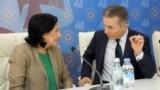 Кандидат в президенты Саломе Зурабишвили и Бидзина Иванишвили